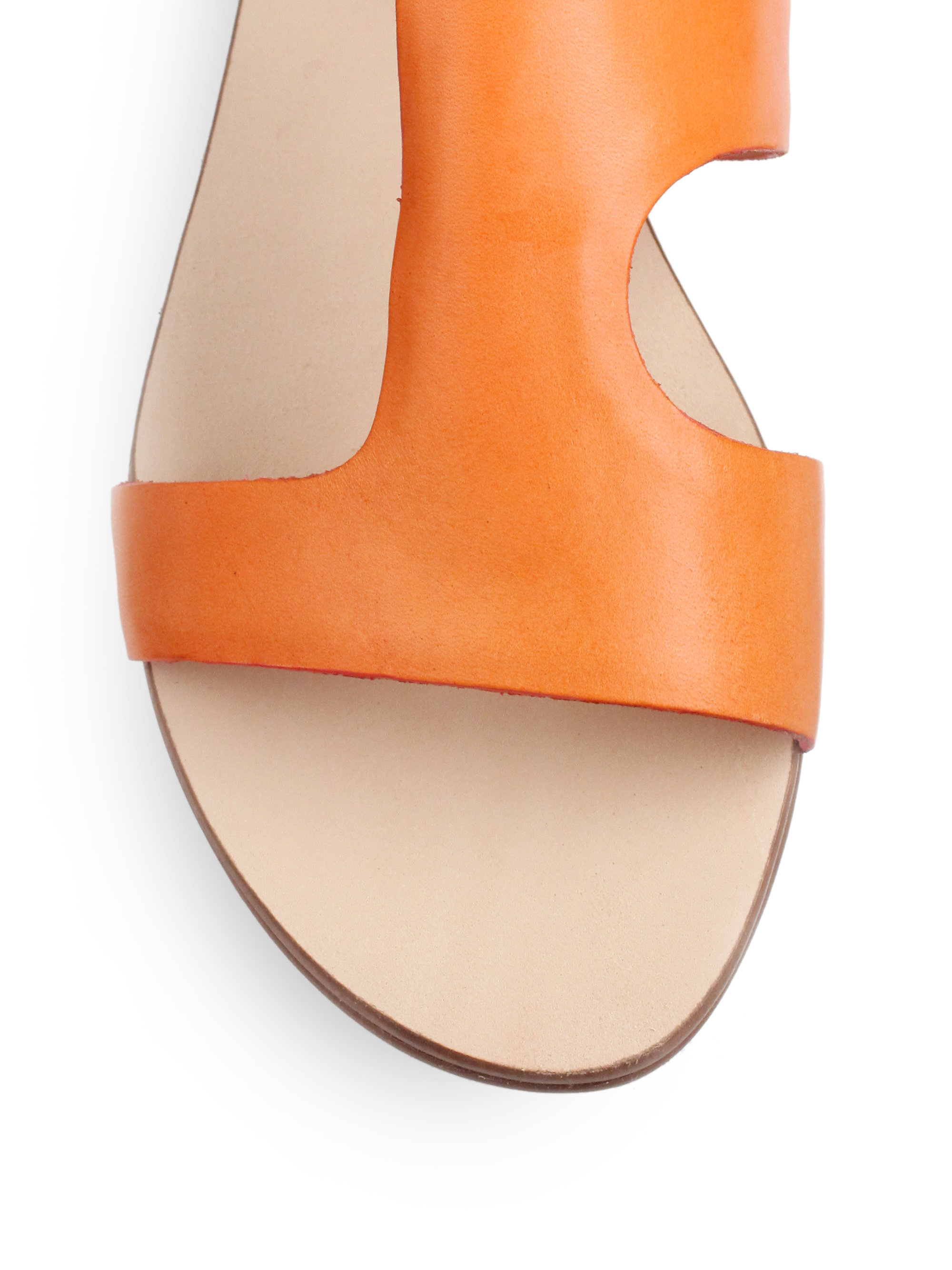 Rebecca Minkoff Bardot Colorblock Flat Sandals In Orange