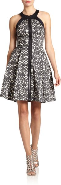 Robert Rodriguez Filigreeprint Zipfront Dress - Lyst
