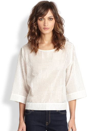 Sam & Lavi Luca Basketweave Textured Pattern Top - Lyst