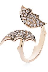 Stephen Webster Diamond Butterfly Rose Gold Ring - Lyst
