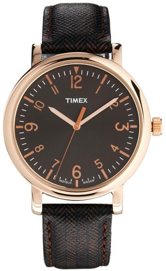 Timex® Watch Originals Classic Round Leather Strap T2p213 - Lyst