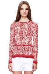 Tory Burch Callie Long Sleeve Tee - Lyst