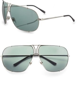 Yves Saint Laurent Metal Aviator Sunglasses - Lyst
