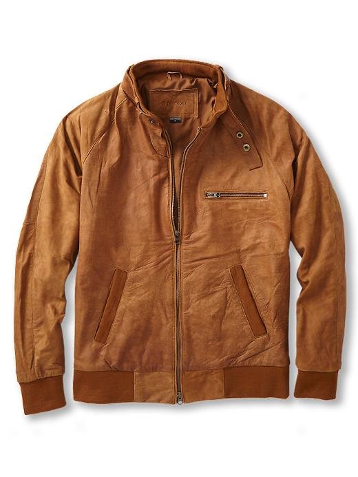 Zanerobe Clubman Jacket In Brown For Men Copper Leather
