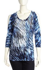 Alberto Makali Cold Shoulder Printed Tunic