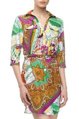 Alberto Makali Paisley Mixed Print Shirtdress - Lyst