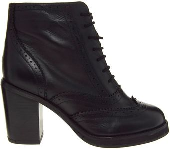 Asos Anyway Leather Brogue Ankle Boots - Lyst