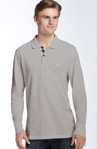 Burberry Trim Fit Piqué Polo - Lyst