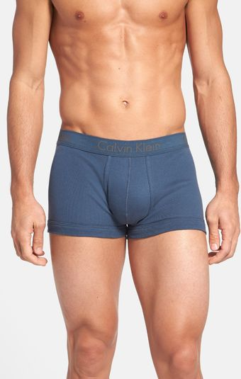 Calvin Klein Cotton Trunks - Lyst