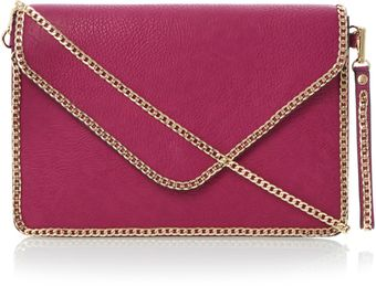 Dune Echainy Chain Trim Clutch Bag - Lyst