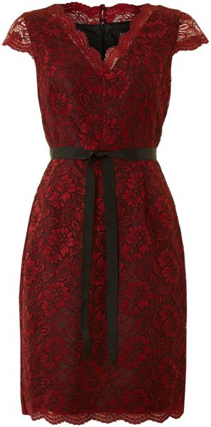 Episode Lace Belted Shift Dress - Lyst