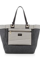 Furla Tribe M Stripedsolid Shopper - Lyst