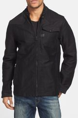 G-star Raw Cotton Canvas Shirt Jacket - Lyst