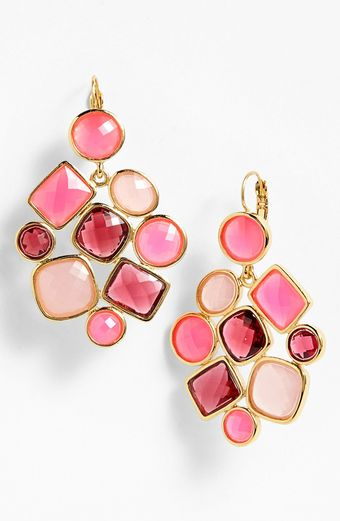 Kate Spade Microfacet Stone Cluster Chandelier Earrings - Lyst