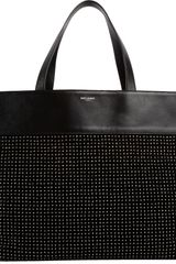 Saint Laurent Studded Eastwest Shopping Bag - Lyst