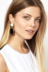 Asos Enamel Doorknocker Earrings - Lyst