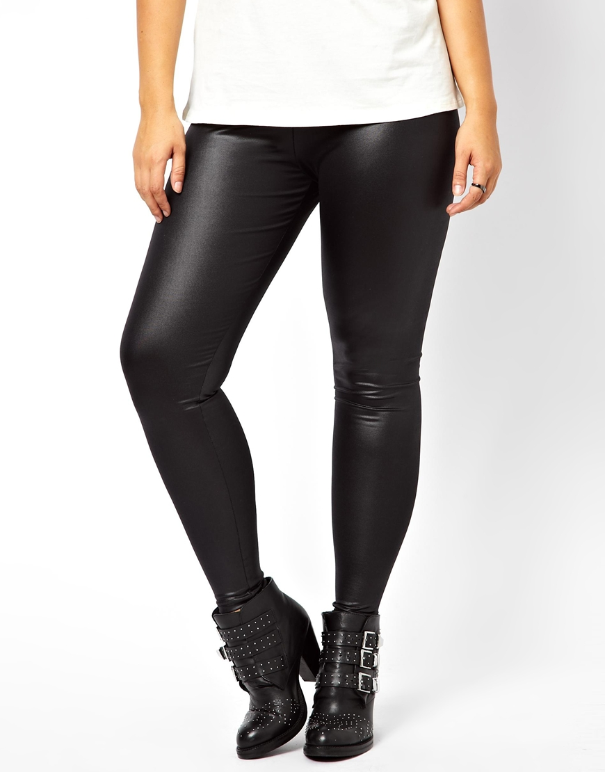 3bee183c299e8 Lyst - ASOS New Look Inspire High Waisted Wet Look Legging in Black