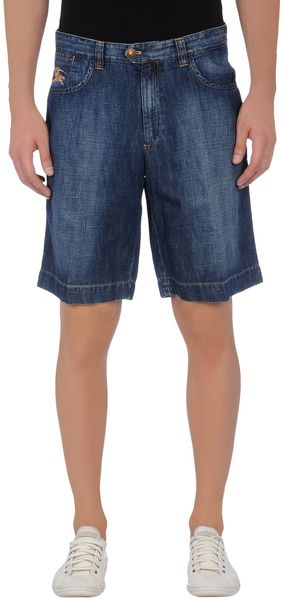 Burberry Denim Bermudas - Lyst