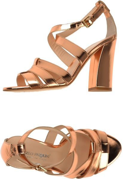 Carlo Pazolini Highheeled Sandals in Gold (Pink) - Lyst