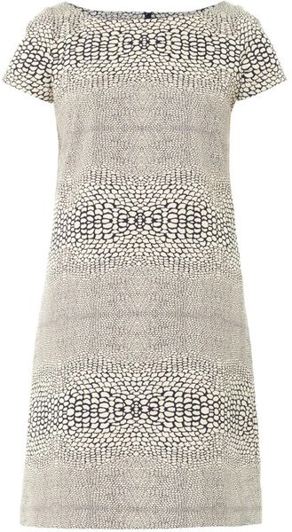Issa Snake Jacquard Shift Dress - Lyst