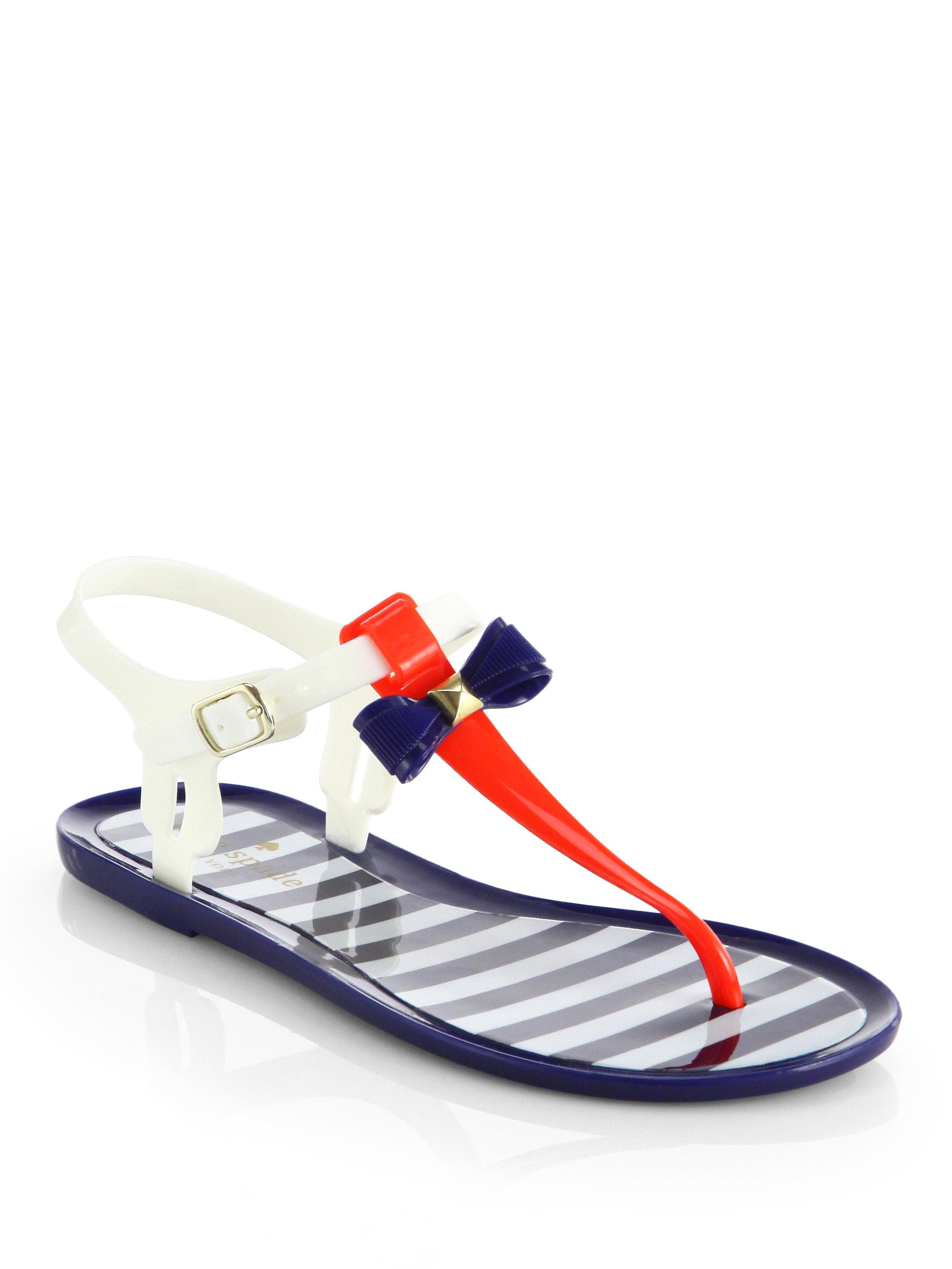 20de9f98baf Lyst - Kate Spade Fresh Jelly Bow Sandals