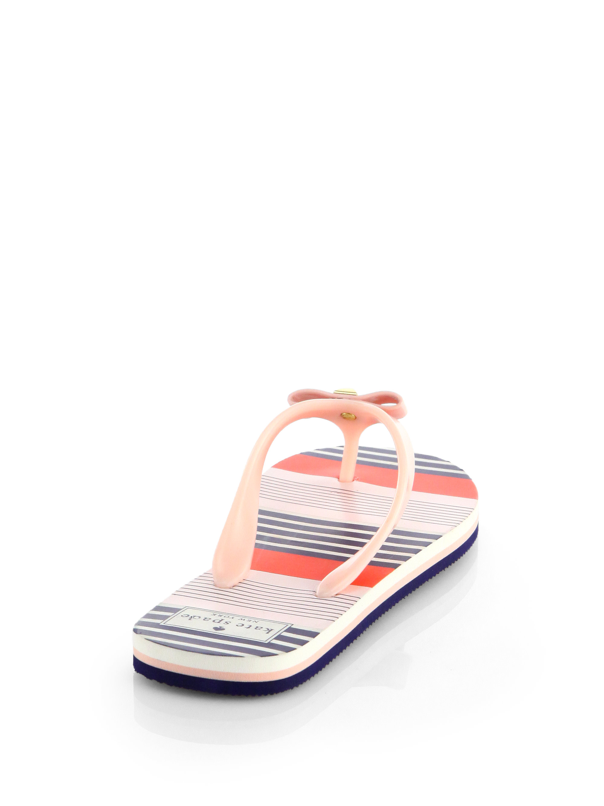 Kate Spade New York Striped Bow Sandals sale how much outlet limited edition cheap sale pay with visa free shipping nicekicks brakhez83