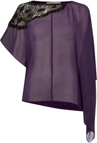 Label Lab Asymmetric Embellished Shoulder Top - Lyst