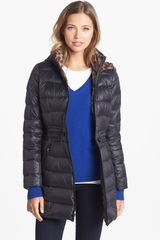 Laundry By Shelli Segal Drawstring Waist Packable Down Coat - Lyst