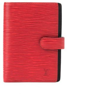 Louis Vuitton Preowned Red Epi Leather Pm Agenda Cover - Lyst