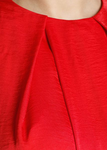 Mango Flowing Satin Finish Dress In Red Lyst