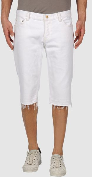 Ralph Lauren Denim Bermudas in White for Men - Lyst
