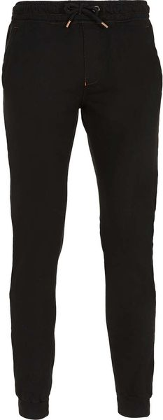 Topman Black Skinny Sweatpants - Lyst