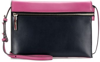 Victoria Beckham Twotone Leather Zip Shoulder Bag - Lyst