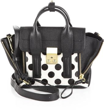 3.1 Phillip Lim Pashli Mini Mixed-media Polka Dot Satchel - Lyst