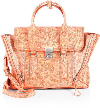 3.1 Phillip Lim Pashli Medium Stamped Leather Satchel - Lyst