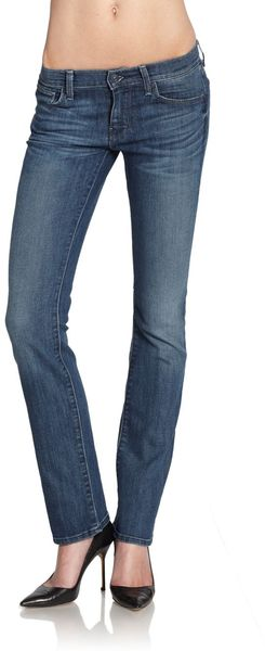 7 For All Mankind Faded Straight-leg Jeans - Lyst