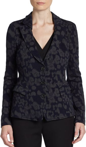 Armani Animal Print Jacket - Lyst