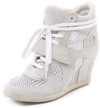 Ash Bowie Mesh Wedge Sneakers - Lyst