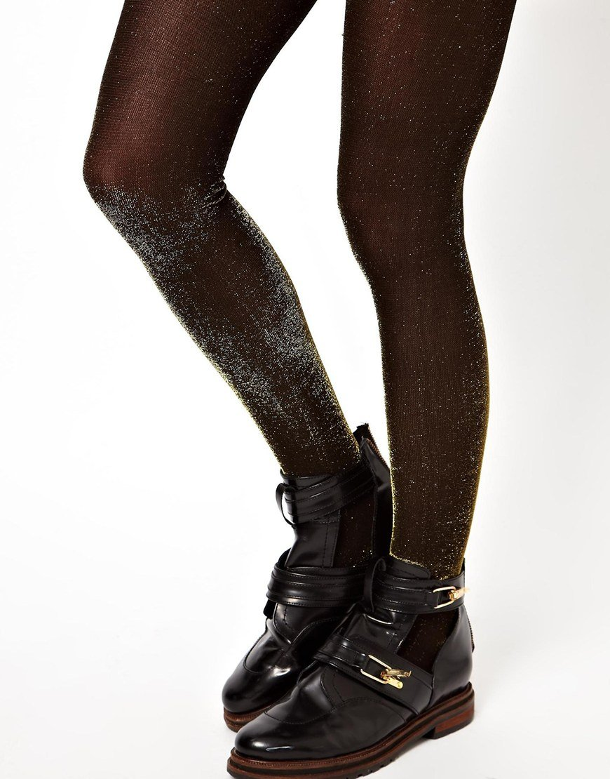 For explanation. black gold hudson pantyhose are