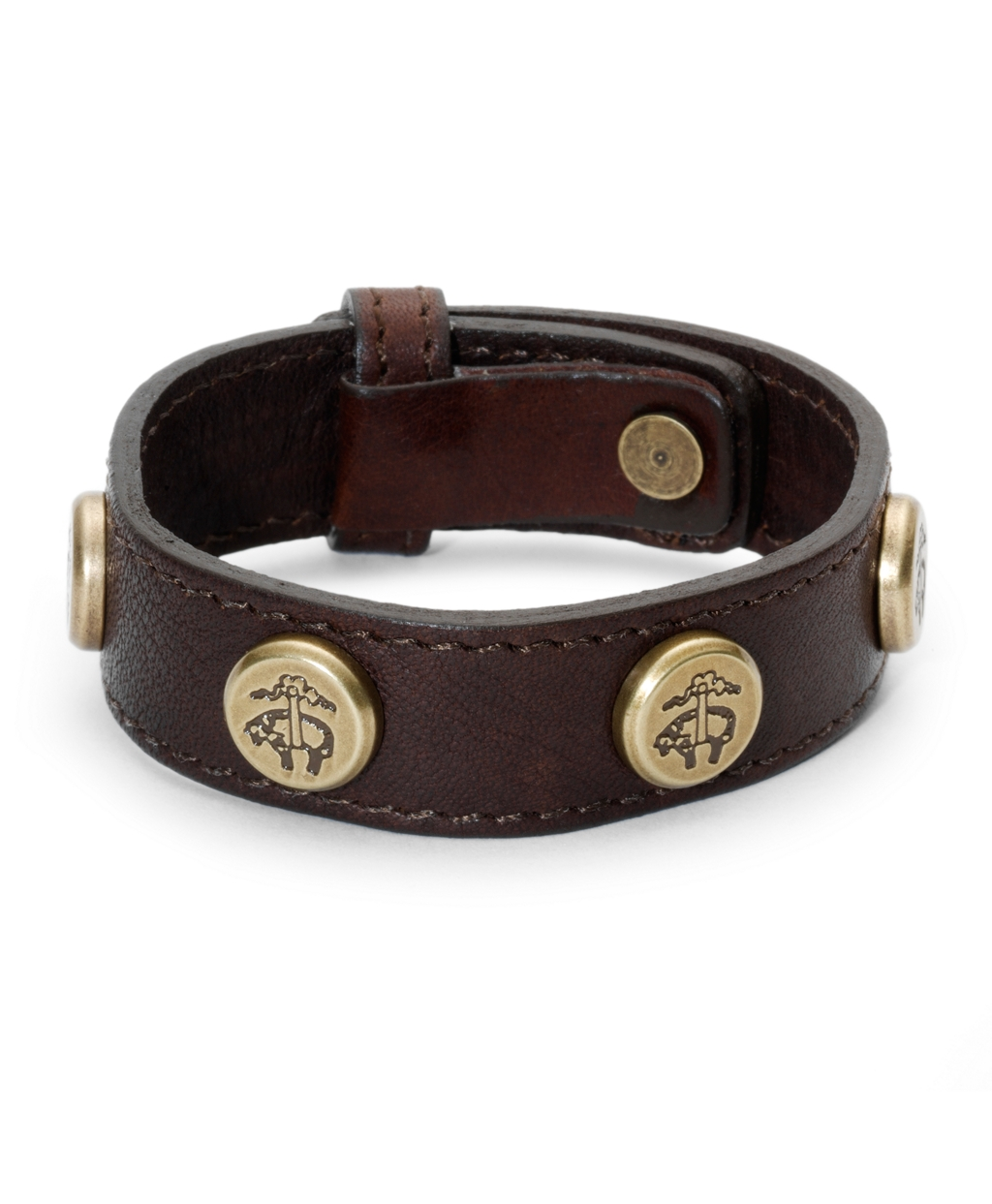 Brooks brothers leather bracelet with golden fleece rivets for Rivets for leather jewelry