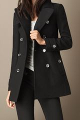 Burberry Back Pleat Military Coat - Lyst
