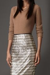 Burberry Ribbed Cashmere Sweater - Lyst