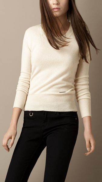 Burberry Stitch Detail Cashmere Sweater - Lyst