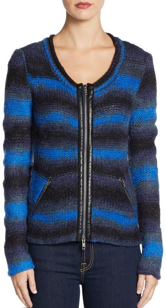 Cut25 By Yigal Azrouël Wool Gradient Knit Cardigan - Lyst