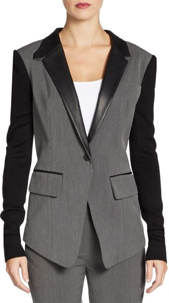 Cut25 By Yigal Azrouël Melange Suiting Combo Blazer - Lyst