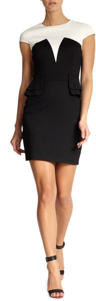 Cynthia Steffe Emily Colorblock Cap Sleeve Dress - Lyst