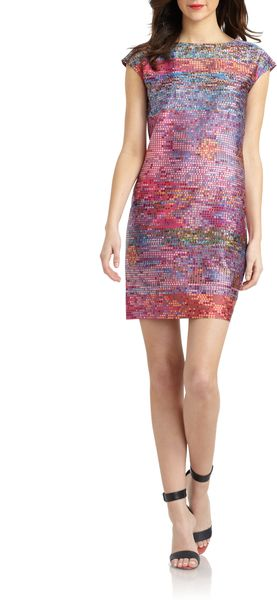 Cynthia Steffe Gina Printed Shift Dress - Lyst