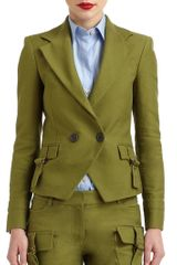Derek Lam Cotton Canvas Cutaway Blazer - Lyst