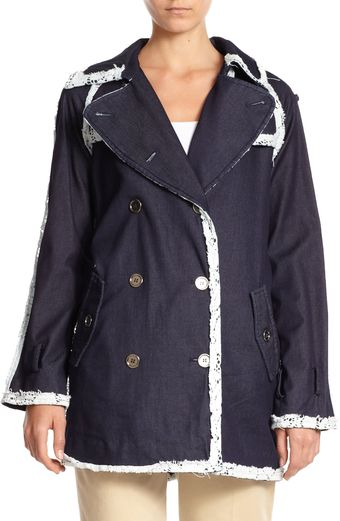 D&G Denim Trenchcoat - Lyst
