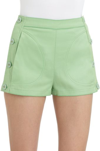 D&G Stretch Cotton Side Button Shorts - Lyst